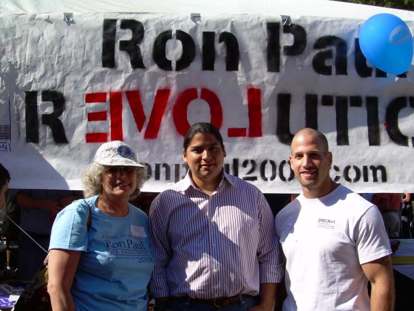 ... logical conclusions; clips of Ron Paul striking the root from Adam vs.