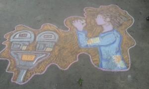 Robin Hood Chalk Art